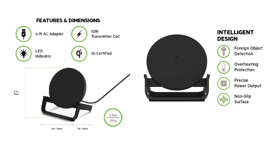แท่นชาร์จ Belkin Boost Up Wireless Charging Stand (10W) ซื้อ-ขาย