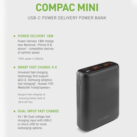 แบตเตอรี่สำรอง Energea Compac Pq1201, 10000Mah Pd + Smartfc4.0 ซื้่อ-ขาย