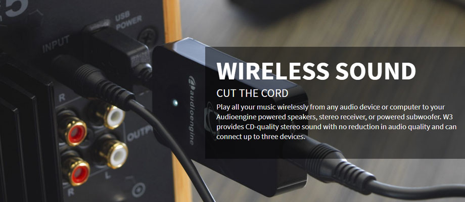 Audioengine Wireless Receiver W3 จุดเด่น
