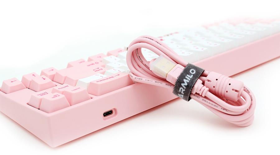 คีย์บอร์ด Ducky Miya Pro Sakura LED Pink Mechanical Keyboard ซื้อ-ขาย
