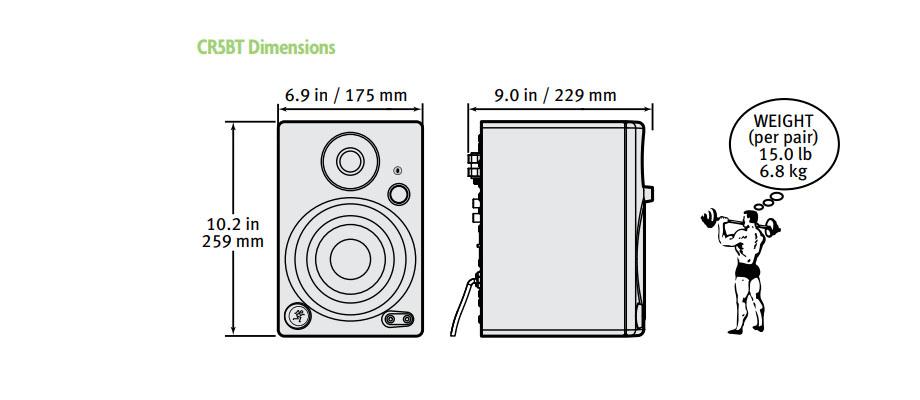 ลำโพงไร้สาย Mackie CR5BT Wireless Speaker ราคา