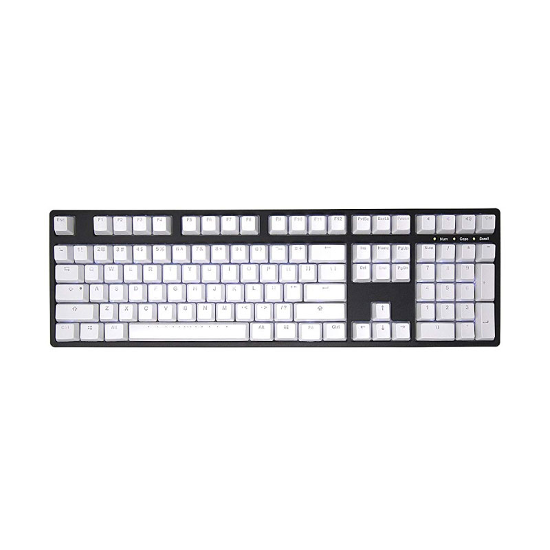 คีย์แคป Ducky PBT Double-Shot  Keycap set White Backlight