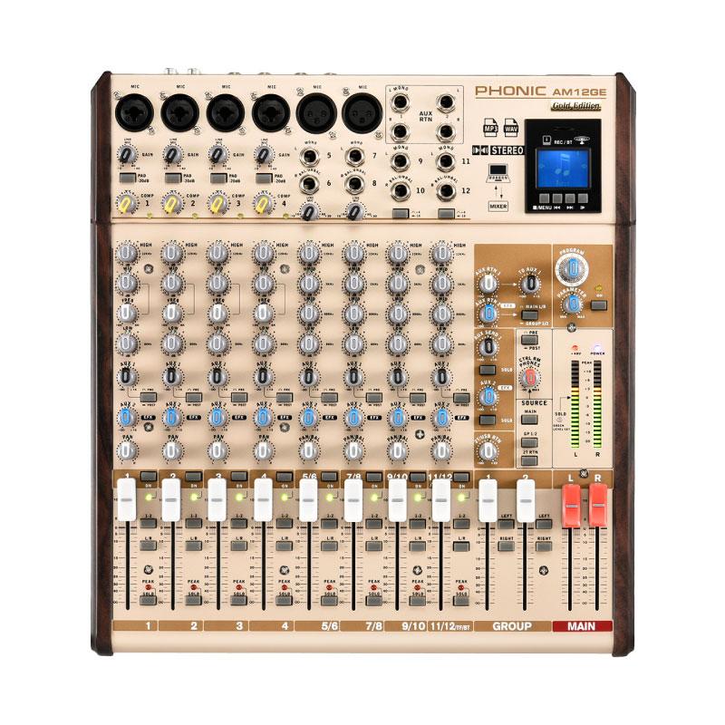 มิกเซอร์ PHONIC AM12GE Analog Mixer Gold Edition