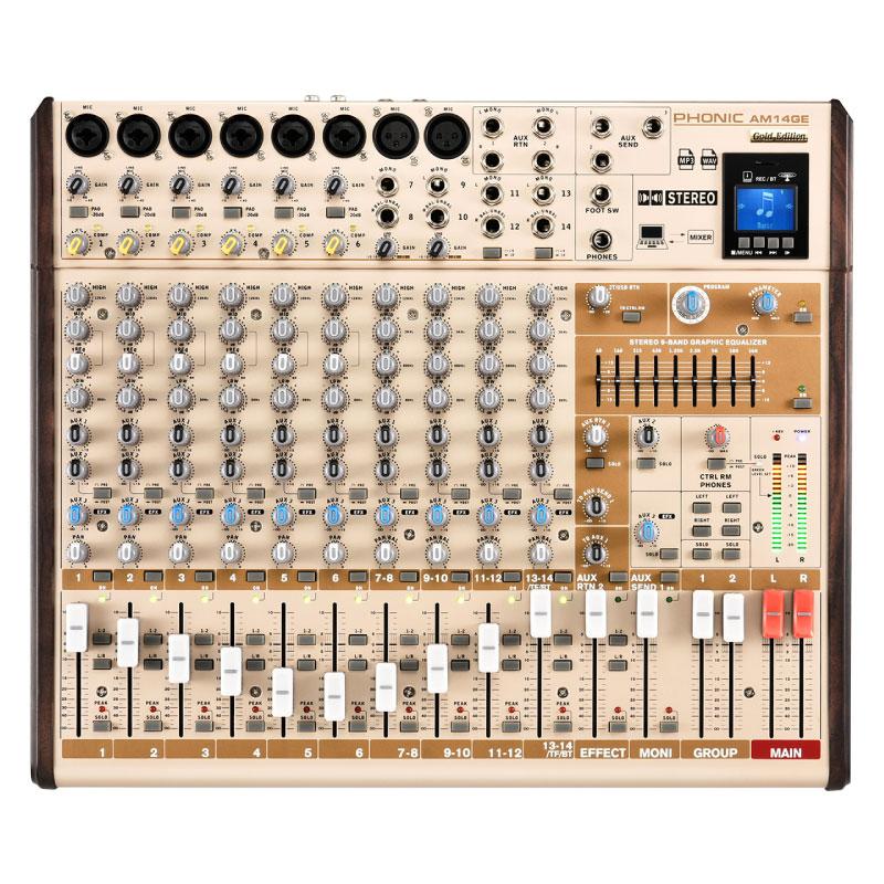 มิกเซอร์ PHONIC AM14GE Analog Mixer Gold Edition