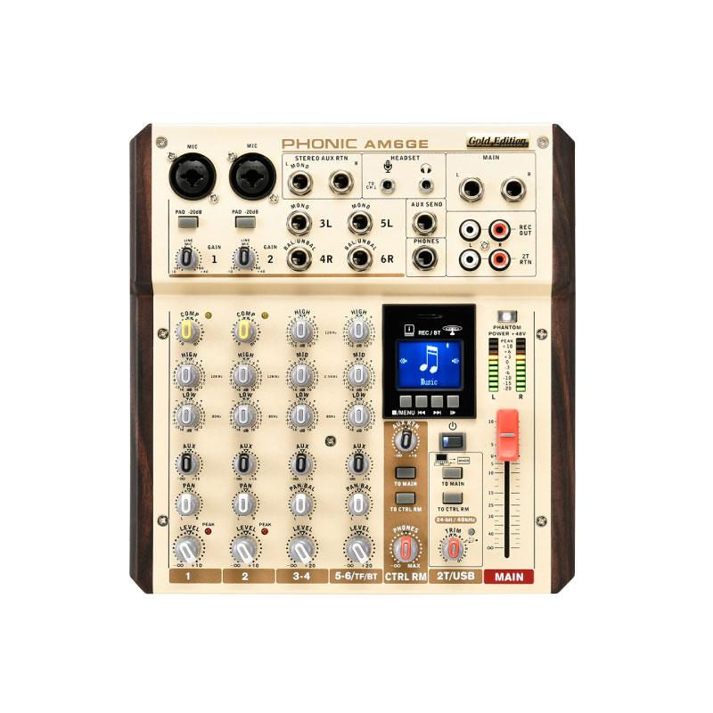 มิกเซอร์ PHONIC AM6GE Analog Mixer Gold Edition