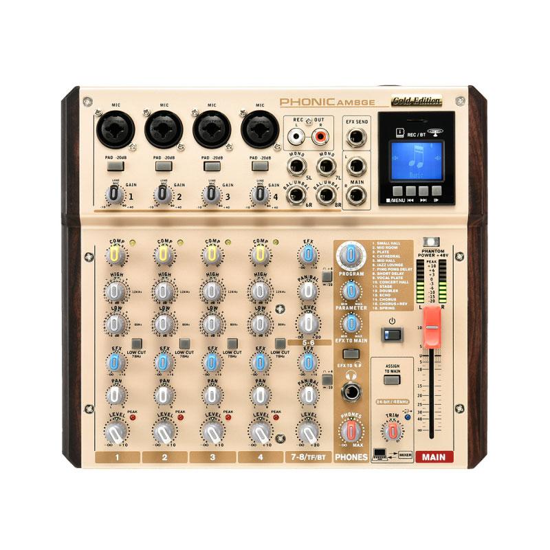 มิกเซอร์ PHONIC AM8GE Analog Mixer Gold Edition