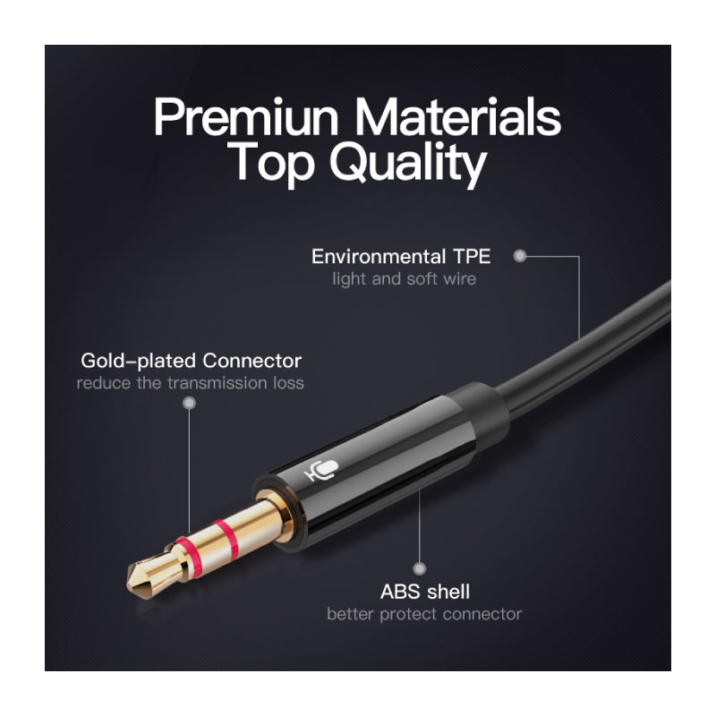 สายแปลง Vention 2X3.5mm Male to 4 Pole 3.5mm Female Audio Cable ซื้อ-ขาย