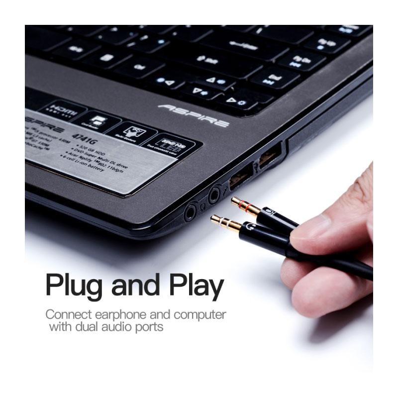 สายแปลง Vention 2X3.5mm Male to 4 Pole 3.5mm Female Audio Cable ราคา