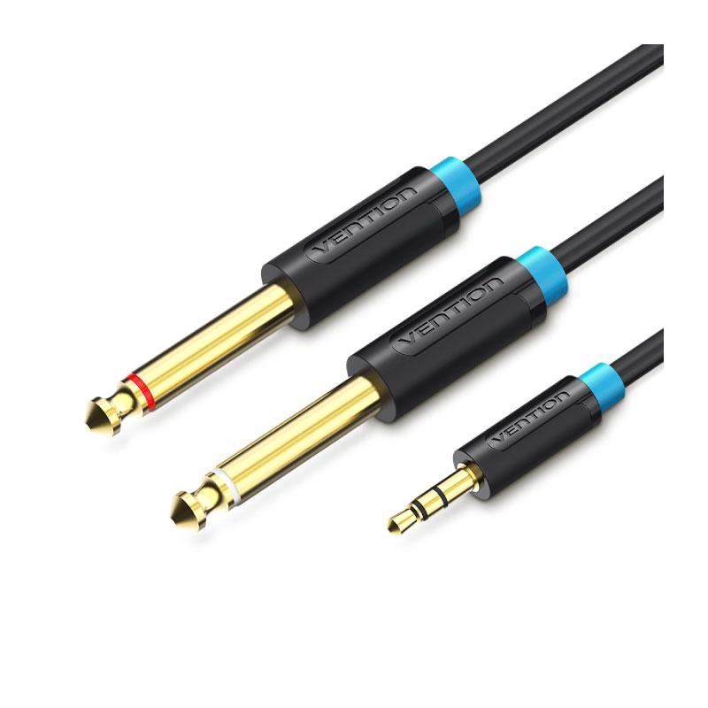 สายแปลง Vention 3.5mm Male to 2X6.5mm Male Audio Cable