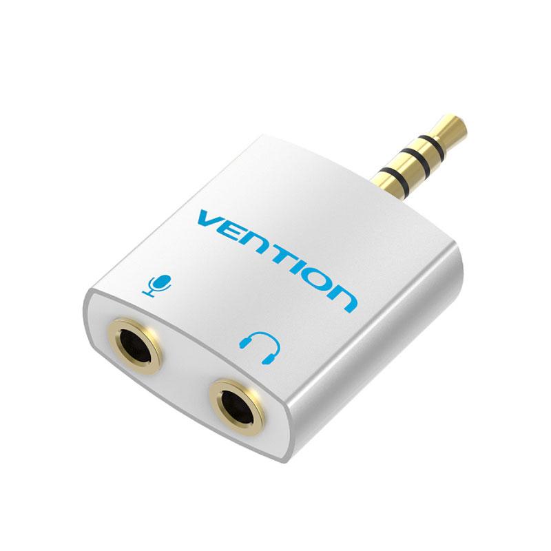 ตัวแปลง Vention 4 Pole 3.5mm Male to 2X3.5mm Female Audio