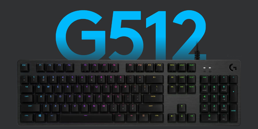 คีย์บอร์ด Logitech G512 RGB Mechanical Keyboard รีวิว