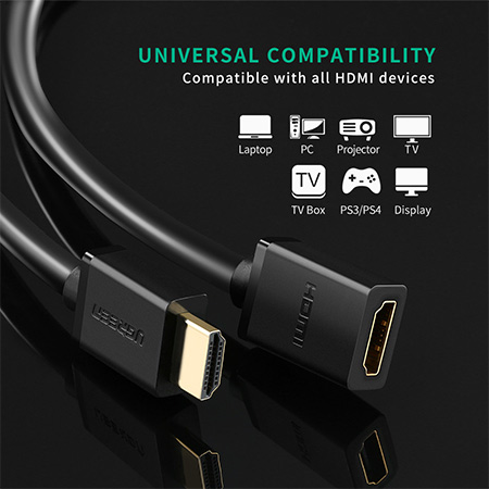 สายแปลง Ugreen HDMI male to female extension ราคา