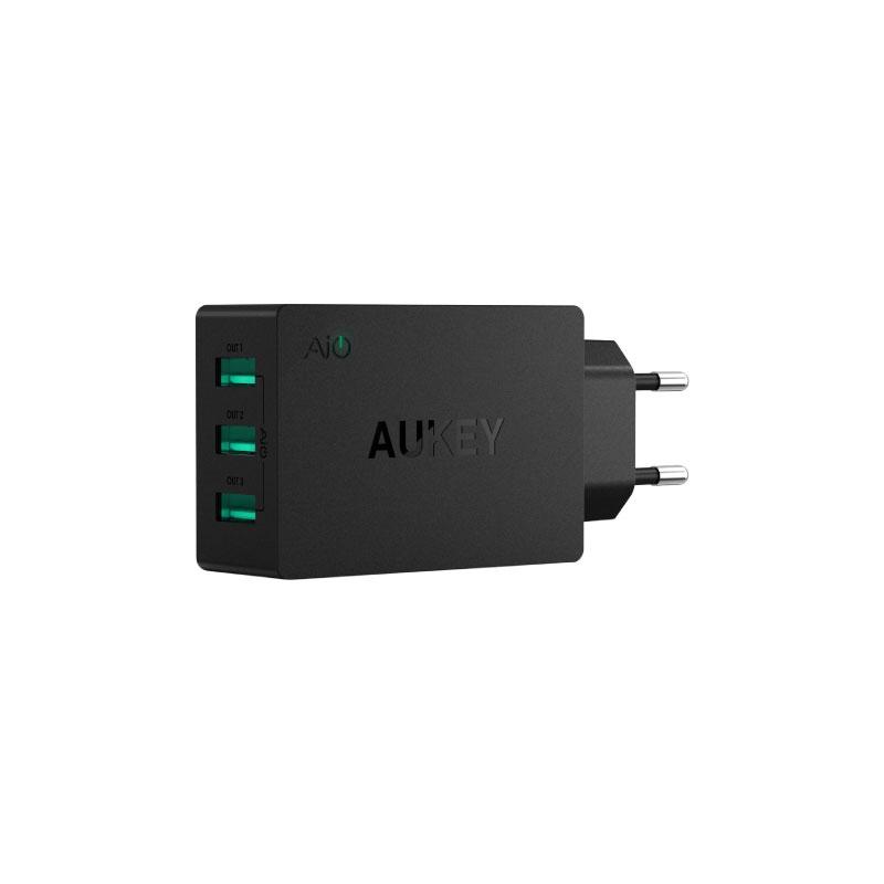 ตัวแปลง Aukey U35 6A 3 USB Port AiPower Travel Charger Adapter