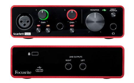 Focusrite Scarlett Solo 3rd Gen USB Audio Interface เชื่อมต่อ