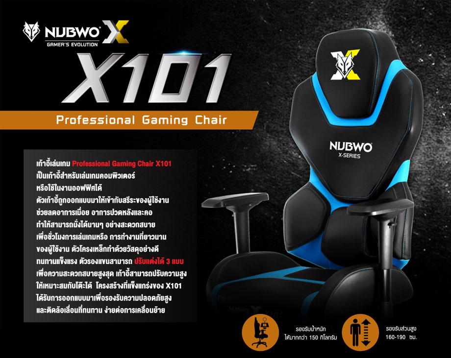 เก้าอี้เล่นเกม Nubwo NBCH-X101 รีวิว