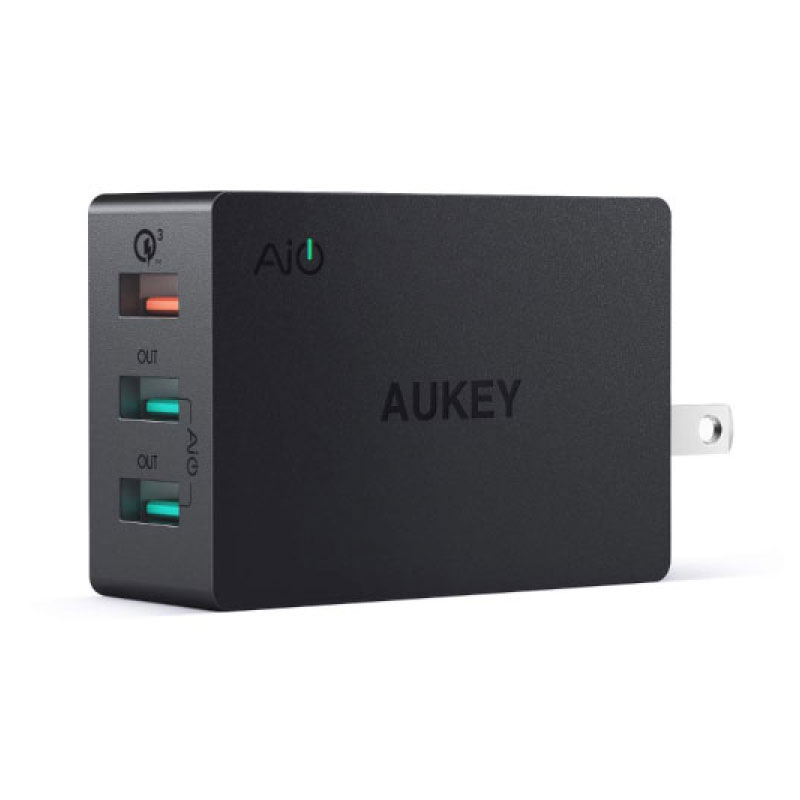 ตัวแปลง Aukey PA-T14 2 Port AiPower Charging +1 Port QC 3.0 Adapter