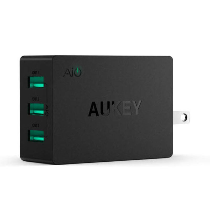 ตัวแปลง Aukey U35 6A 3 USB Port AiPower Travel Charger Adapter
