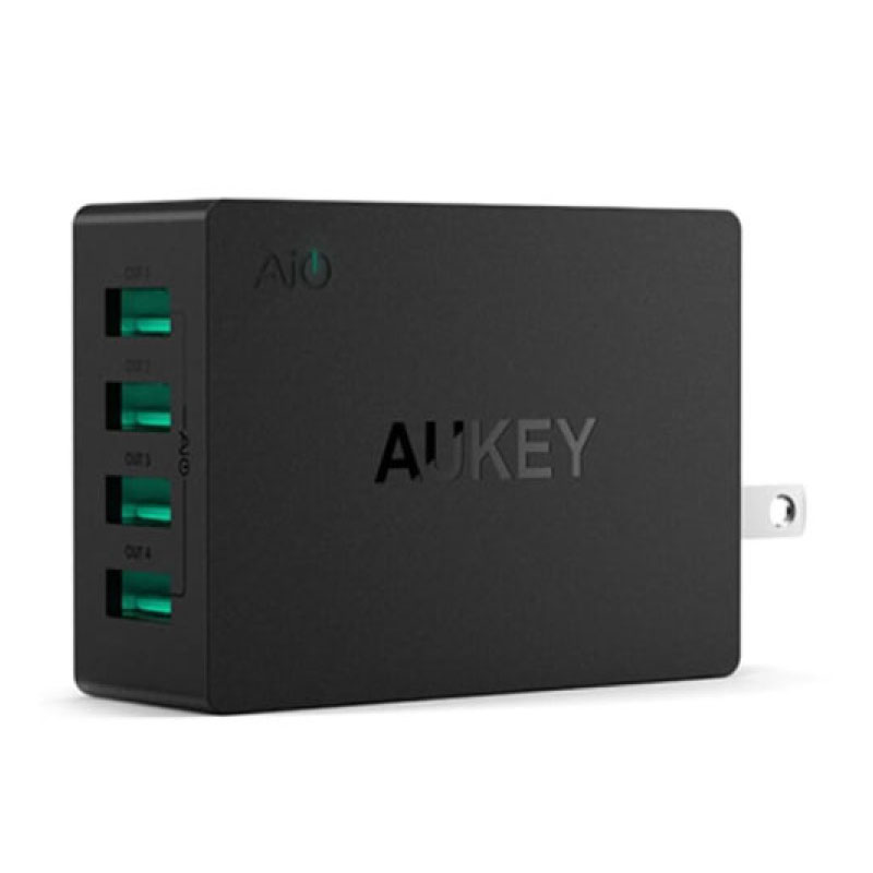 ตัวแปลง Aukey U36 8A 4 USB Port AiPower Travel Charger Adapter