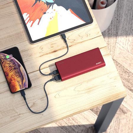 แบตสำรอง Aukey PB-XD13 20000mAh USB-C PowerBank with Quick Charge ซื้อ-ขาย