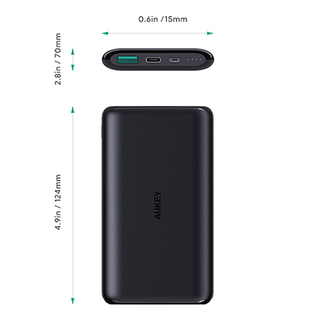 แบตสำรอง Aukey PB-XN10 10,000mAh Slim USB-C PowerBank Fast Charge ราคา
