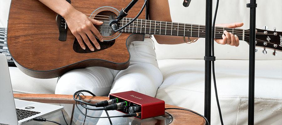 Focusrite Scarlett 2i2 3rd Gen USB Audio Interface การเชื่อมต่อ