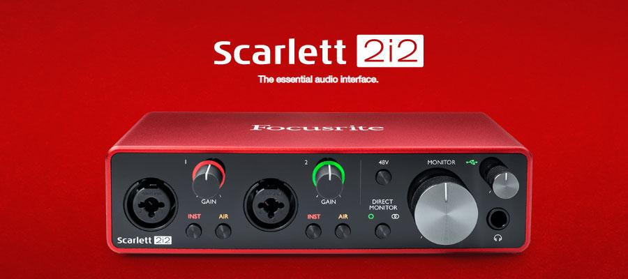Focusrite Scarlett 2i2 3rd Gen USB Audio Interface รีวิว