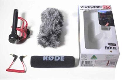 Rode VideoMic Go Microphone ในกล่อง