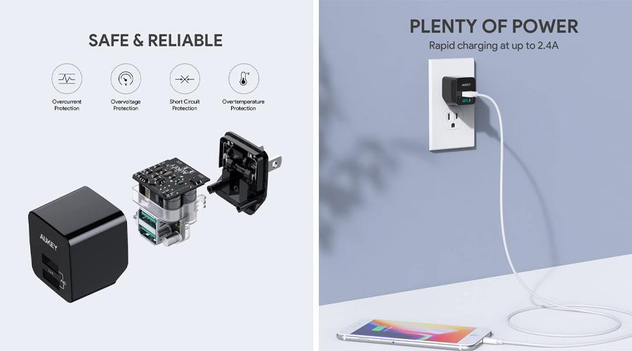 หัวชาร์จ Aukey PA-U32 ULTRA COMPACT AiPower Adapter ราคา