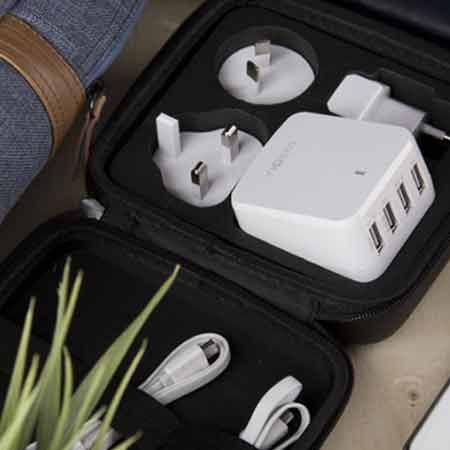 หัวแปลง Energea Wall Charger Travel World 6.8A 4 USB ซื้อ-ขาย