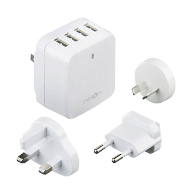หัวแปลง Energea Wall Charger Travel World 6.8A 4 USB