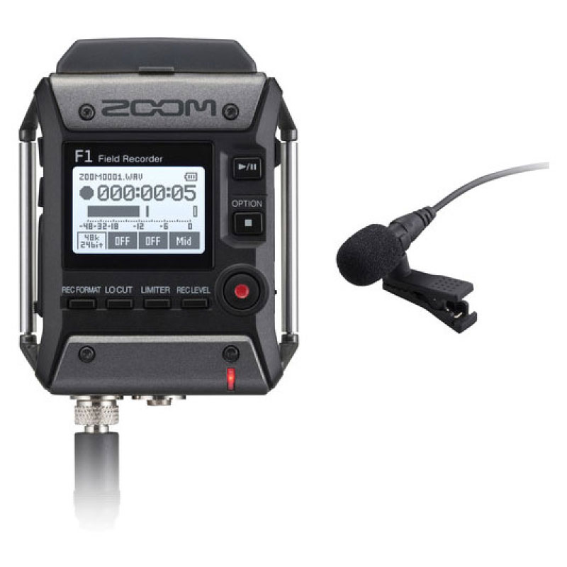 Zoom F1-LP Portable Recorder with Lavalier Microphone