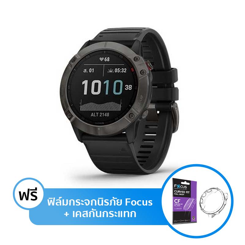 นาฬิกา Garmin Fenix 6X Sport Watch Sapphire Carbon Gray DLC Black Band