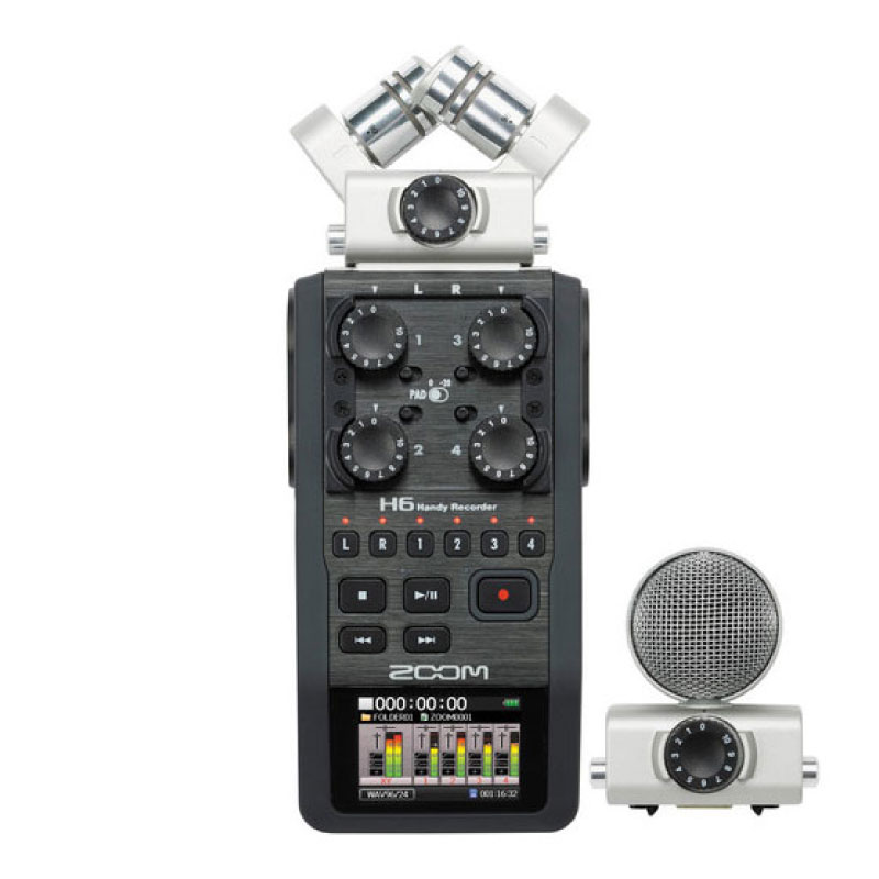 Zoom H6 Handy Recorder with Interchangeable Microphone