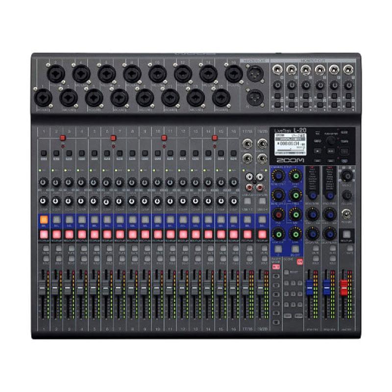 Zoom LiveTrak L-20 20 Input Digital Mixer & Multitrack Recorder