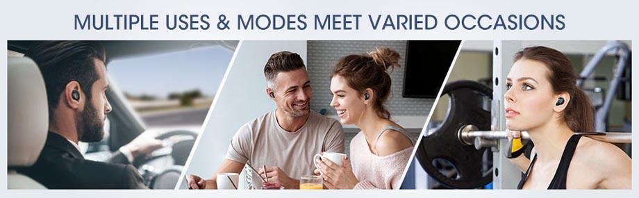 หูฟังไร้สาย Mpow T5 True Wireless การใช้งาน