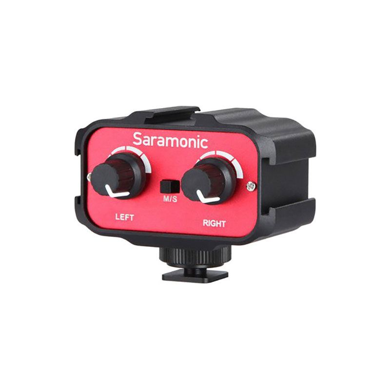 Saramonic SR-AX100 Passive 2-Channel Audio Adapter for DSLR Camera