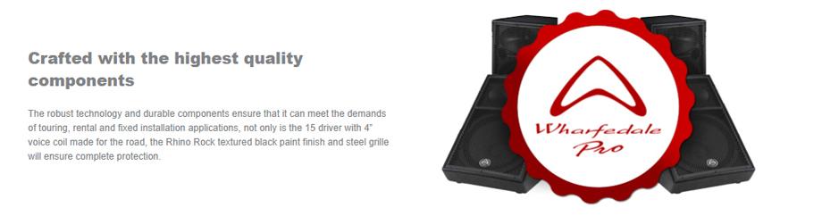 ลำโพง Wharfedale Pro DELTA 15B Passive Speaker สเปค