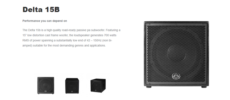 ลำโพง Wharfedale Pro DELTA 15B Passive Speaker รีวิว