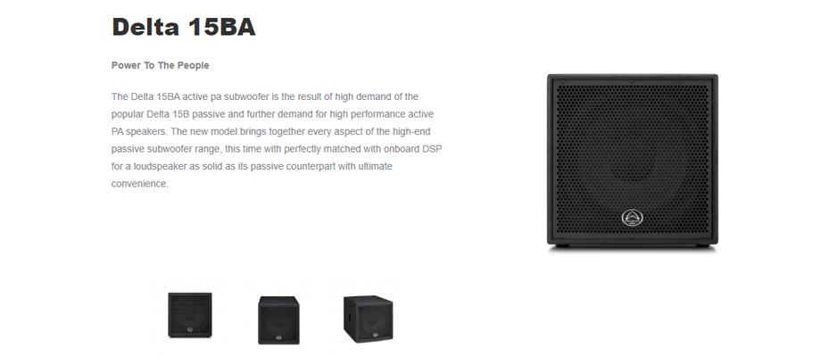 ลำโพง Wharfedale Pro DELTA 15BA Passive Speaker รีวิว
