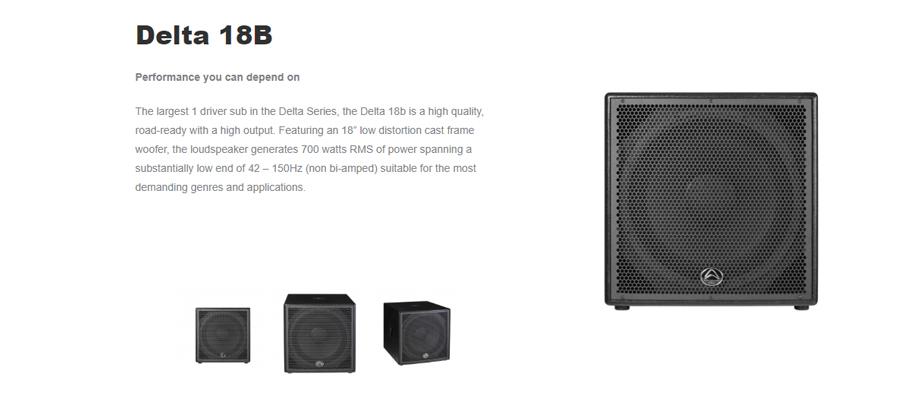 ลำโพง Wharfedale Pro DELTA 18B Passive Speaker รีวิว