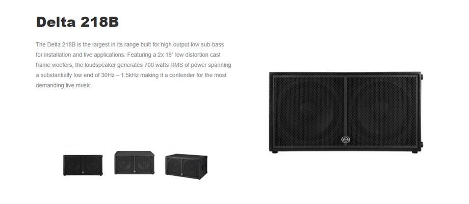 ลำโพง Wharfedale Pro DELTA 218B Passive Speaker รีวิว