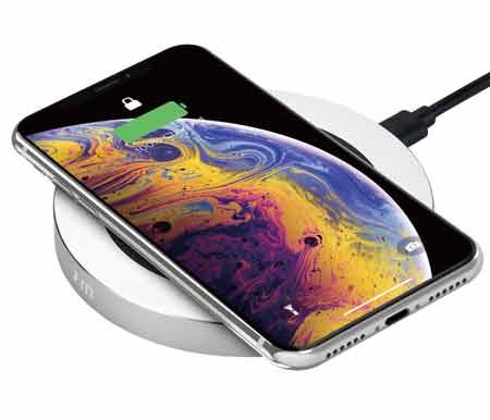 แท่นชาร์จ Just Mobile AluBase Wireless Aluminum High Speed Wireless Charger Qi