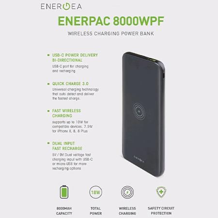 แบตสำรองไร้สาย Energea 8000WPF 8000mAh Wireless Charging ราคา