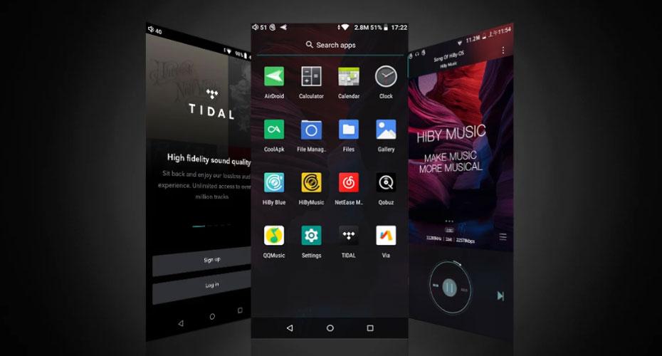 เครื่องเล่นเพลง Hiby R5 Android