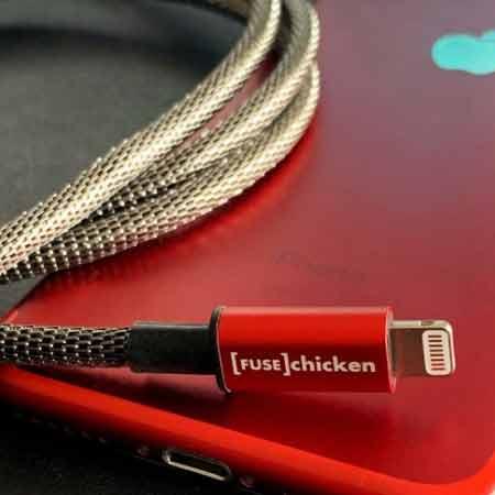 สายชาร์จ Fuse Chicken Shield Lightning Red Limited Edition ซื้อ-ขาย