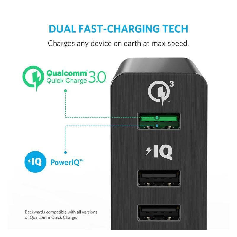 หัวแปลง Anker PowerPort+ 6 with Quick Charge 3.0 ราคา