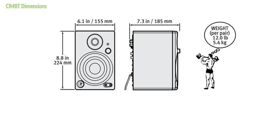 ลำโพงไร้สาย Mackie CR4BT Wireless Speaker ราคา