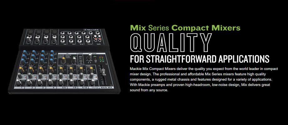 Mackie Mix12FX Mixer รีวิว