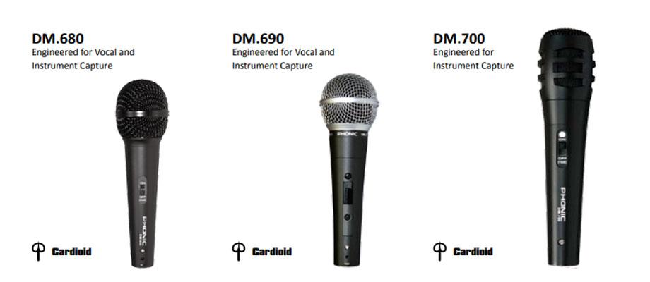 ไมโครโฟน PHONIC DM 690 Microphone สเปค