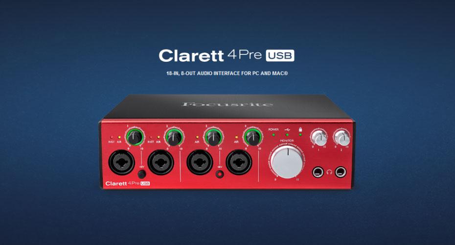 Focusrite Clarett 4Pre USB Interface ราคา